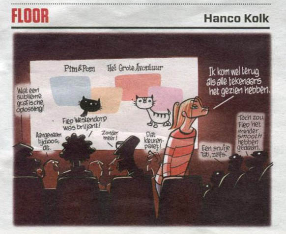 Pim & Pom-cartoon van Hanco Kolk