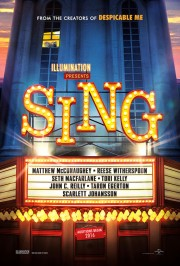 Teaserposter Sing (Illumination Entertainment)